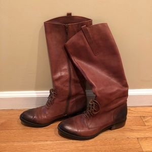 Real Leather Knee high riding boot